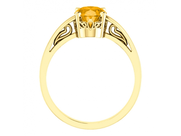 Gemstone Rings - Solitaire Scroll Setting® Ring - image #2