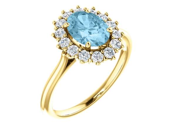 Genuine Aquamarine Ring by Stuller