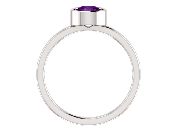 Gemstone Rings - Genuine Amethyst Ring - image #2