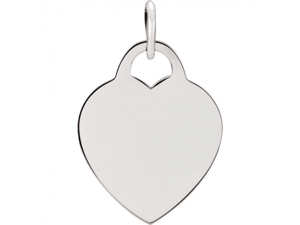 Heart Shaped Charm - Sterling Silver 26.83x20.51mm Heart Charm