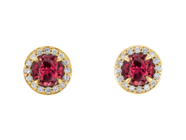 Gemstone Earrings - Genuine Ruby Earrings - image 2