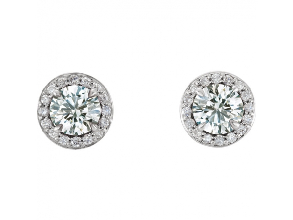 Gemstone Earrings - Genuine Diamond Earrings - image #2