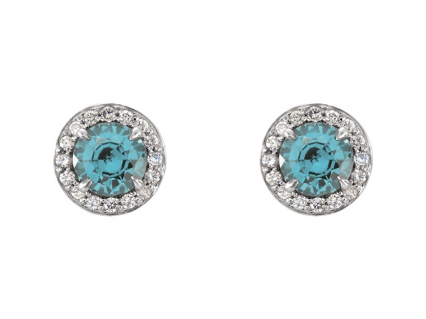 Gemstone Earrings - Genuine Aquamarine Earrings - image #2