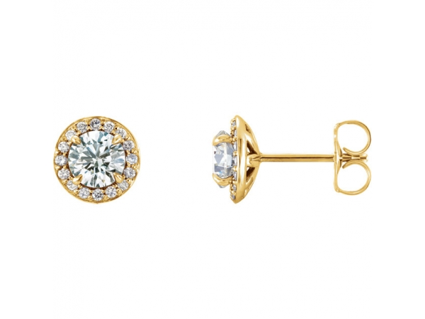 Gemstone Earrings - Genuine Diamond Earrings