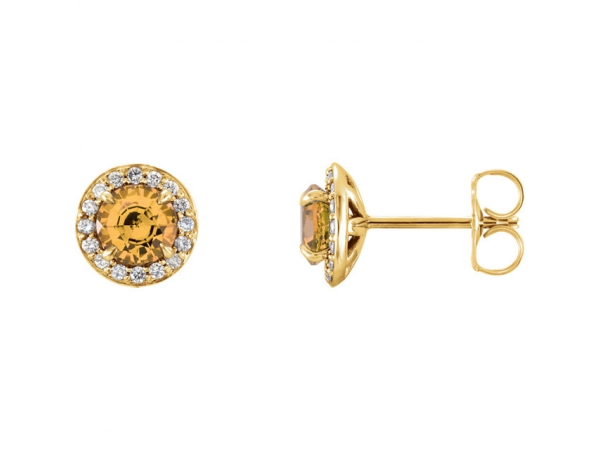Gemstone Earrings - Genuine Citrine Earrings