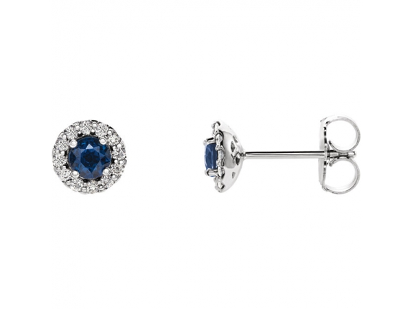 Genuine Blue Sapphire Earrings by Stuller