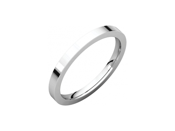 Mens Wedding Bands - 2mm Wedding Band