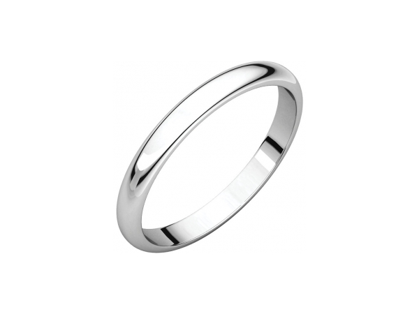 Men's Wedding Bands - 2mm Wedding Band - image #2
