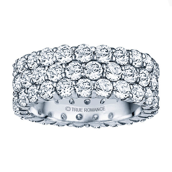Shared Prong 3 Row Eternity Timmreck & McNicol Jewelers McMinnville, OR