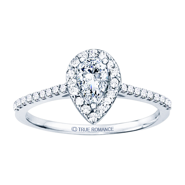Rm1301ps-14k White Gold Halo Engagement Ring Timmreck & McNicol Jewelers McMinnville, OR