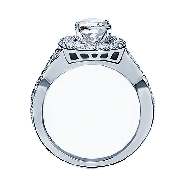 RM1354K Round Diamond Infinity/Halo Engagement Ring Image 2 Timmreck & McNicol Jewelers McMinnville, OR