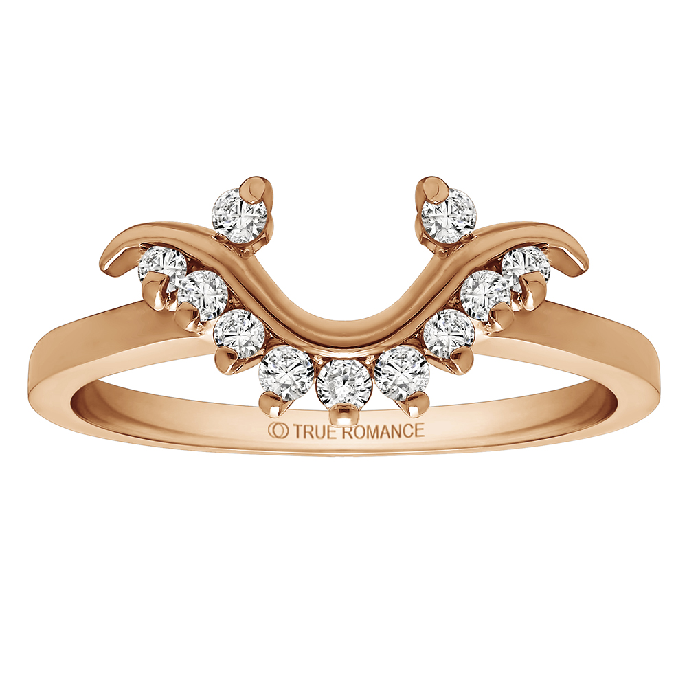 Solitaire Ring Wrap/Enhancer Image 4 Timmreck & McNicol Jewelers McMinnville, OR